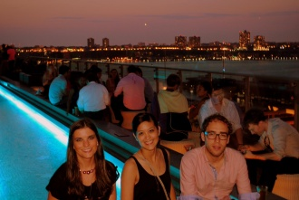 Cocktail time en Press Lounge Rooftop, Hotel Ink48. Nueva York 2012.