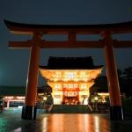 Kyoto II. Fushimi Inari bajo la lluvia