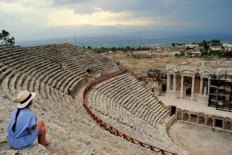 Teatro en las ruinas de Hierápolis. Pamukkale, Turquía, 2014.