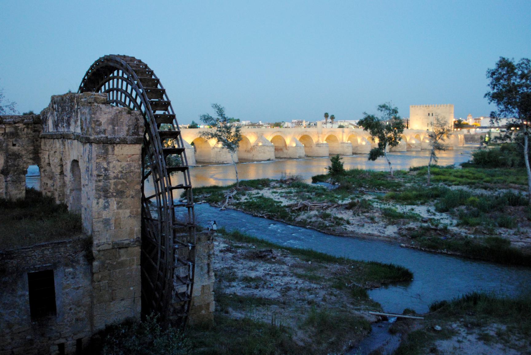 Puente Romano desde el Molino de Albolafia. Córdoba, 2014.