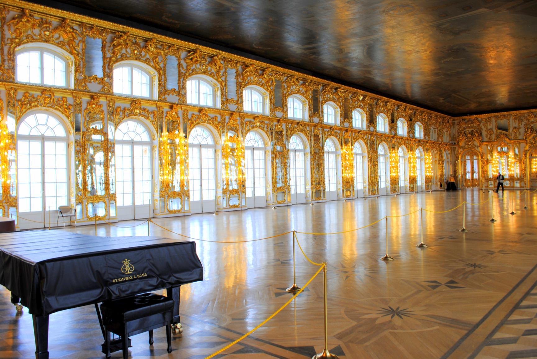 Visita al palacio de catalina en pushkin for Espejos en el salon