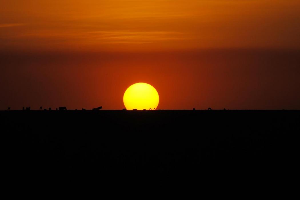 Atardecer desde el hotel Basecamp Masai Mara. Kenya, 2015.