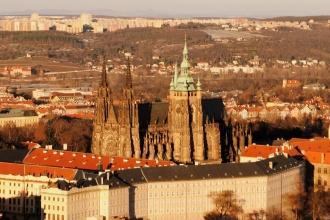 Catedral de San Vito desde la Torre Petrín. Praga, 2016.