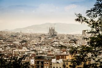 Tejados de la ciudad condal. Barcelona.