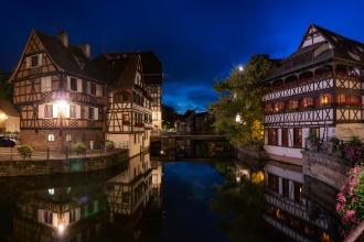 La Petit France at night