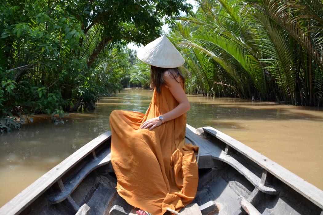 Flotando en las aguas del gran Mekong. Vietnam, 2017