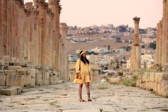 Imaginando la vida en Jerash hace siglos. Jordania, 2018.