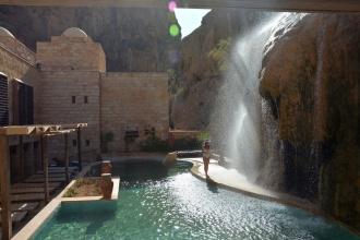 Pequeño oasis en el desierto. Ma'in Hot Springs, Jordania, 2018.