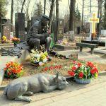Sepultura de Yuri Nikulin en el Cementerio Novodevichy. Moscú 2015.